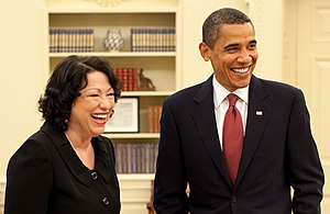 President Barack Obama and Justice Sonia Sotom...