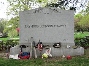 English: 's grave in Lake View Cemetery, Cleveland