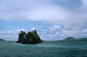 A reef surrounding an islet.