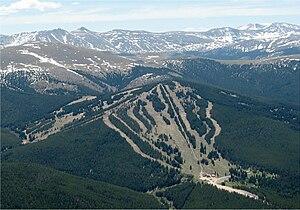 Aerial view of Ski Cooper.