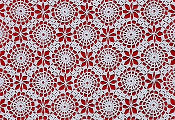 English: Detail of crochet table-cloth. França...