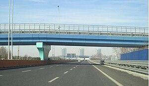 South Beltway of Brescia, where it has three l...
