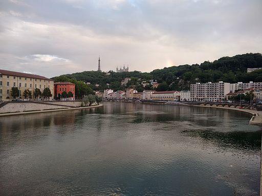View down Lyon river