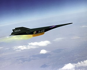 An artist's conception of the X-43A Hypersonic...