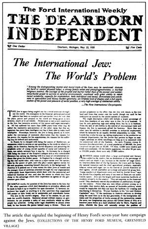 Article The International Jew: The World's Pro...