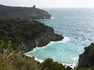 English: Coast near Marina di Camerota, Cilent...
