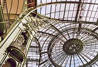 Interior of a dome in the Grand Palais, Paris