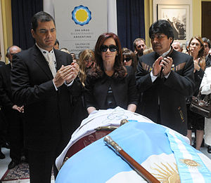 English: Presidents Cristina Fernandez, Rafael...