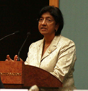 High Commissioner for Human Rights, Ms. Navanethem Pillay