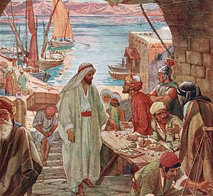 Jesus calls Levi. From book: The Life of Jesus...