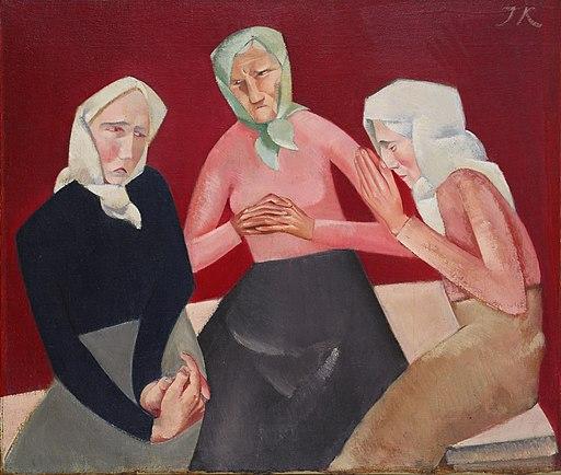 Jēkabs Kazaks - Three Old Ladies - Google Art Project