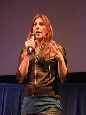 Film director Kathryn Bigelow after a showing ...