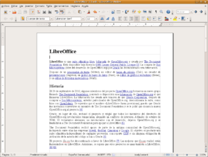 LibreOffice Writer 3.3 screenshot