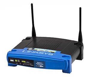 English: A Linksys wireless-G router.