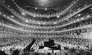 New York, New York: old Metropolitan Opera Hou...