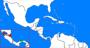 English: Red path denotes the proposed Nicarag...