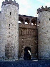 Portail d'accès au palais de l'Aljaferia.