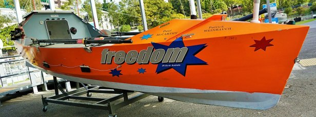 Queensland Maritime Museum - Joy of Museums - Freedom - Atlantic Rowing Race Boat
