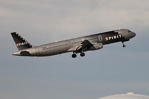 English: Spirit Airlines N587NK (an A321-231) ... Kane Minks