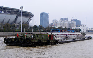 Transport barge on the Grand Canal, Suzhou, China