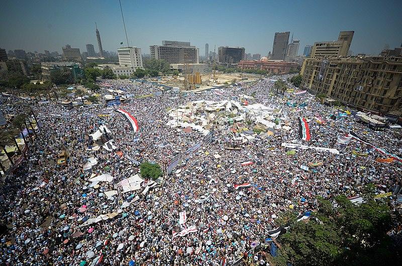 Plaza Tahrir (2011), El Cairo (Egipto) / Wikimedia Commons