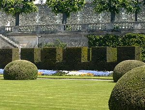a garden in Tours, France. Free-standing topia...