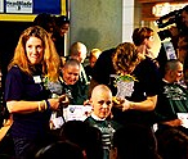 Women Shaving Their Head In The  Mommas Event Which Is A Fund Raising And Awareness Program Of Cancer