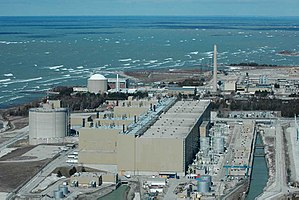 The CANDU Bruce Nuclear Generating Station is the second largest nuclear power plant in the world.