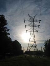 English: Pylon of a high-voltage transmission ...
