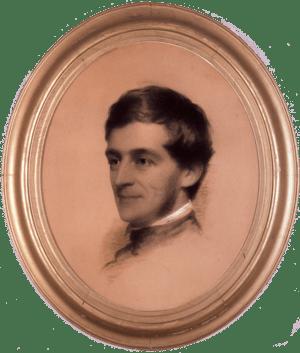 Charcoal portrait of Ralph Waldo Emerson by ar...