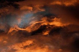 Clouds during sunset over Fürth