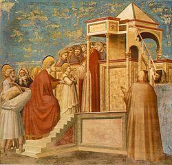 Giotto, Presentazione della Vergine al Tempio, 1303-06 (Padova, Cappella degli Scrovegni).