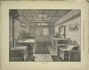 Bath Room interior by the J. L. Mott Iron Works