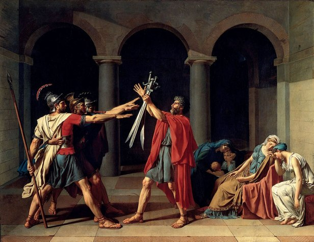 """""""Oath of the Horatii"""" by Jacques-Louis David"""