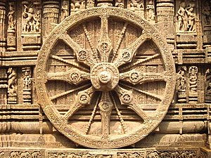 English: Wheel of Konark temple
