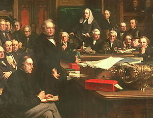 English: Lord Palmerston Addressing the House ...