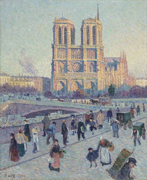 The Quai Saint-Michel and Notre-Dame by Maximilien Luce -