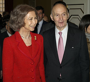 English: Queen Sofía of Spain with Gonzalo Ane...