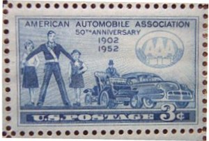 The stamp issued on March 4, 1952, in Chicago,...