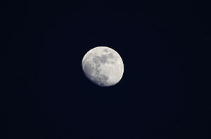 Moon as seen from the Earth.