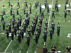 English: The University HS Trojan Marching Ban...