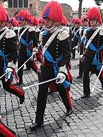 Allievi della Scuola Ufficiali di Roma in grande uniforme speciale