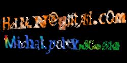 Direcciones de correo electrónico de un usuario de lso Proyectos Wikimedia. Está en forma de imagen con ruido para protegerse de los spam-bots.