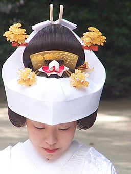 Bride at meiji shrine