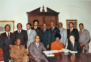 Founding members of the {{w|Congressional Blac...