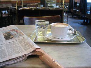 """typical scene in a Viennese """"Kaffeehaus&q..."""