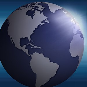 planet illustration in blue, Category:Earth, C...