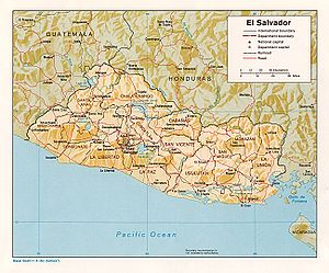 An enlargeable relief map of El Salvador