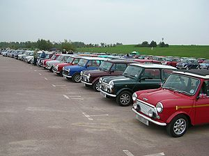 Minis at the Issigonis centenary rally at the ...