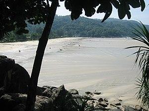 Maximum recession of tsunami waters at Kata No...